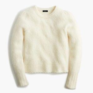 J. Crew Alpaca/Wool puff sleeve sweater